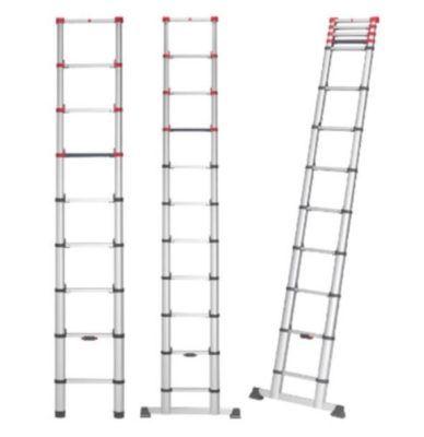 Hailo FlexLine 320   Alu Sicherheits Teleskopleiter 11 Sprossen 3,2m für 149,99€