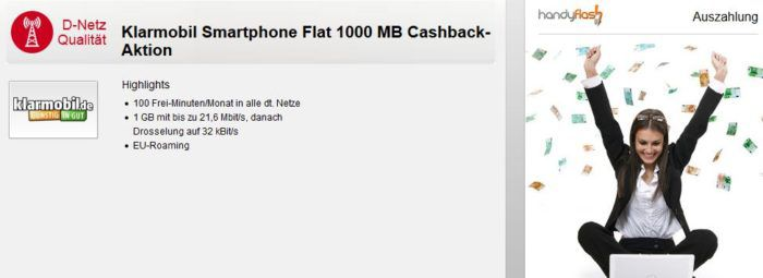 Vodafone 100 min. + 1 GB Daten für nur eff. 1,95€ mtl.