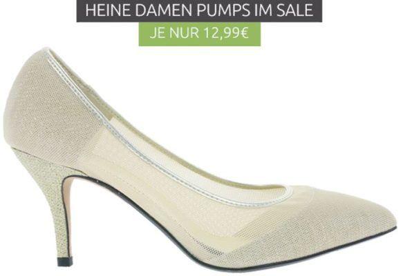 Heine Heel Damen Pumps in Gold statt 33€ ab nur 9,99€
