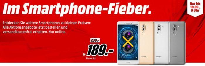 Media Markt Smartphone Fieber: z.B HONOR 6X 32 GB für 189€