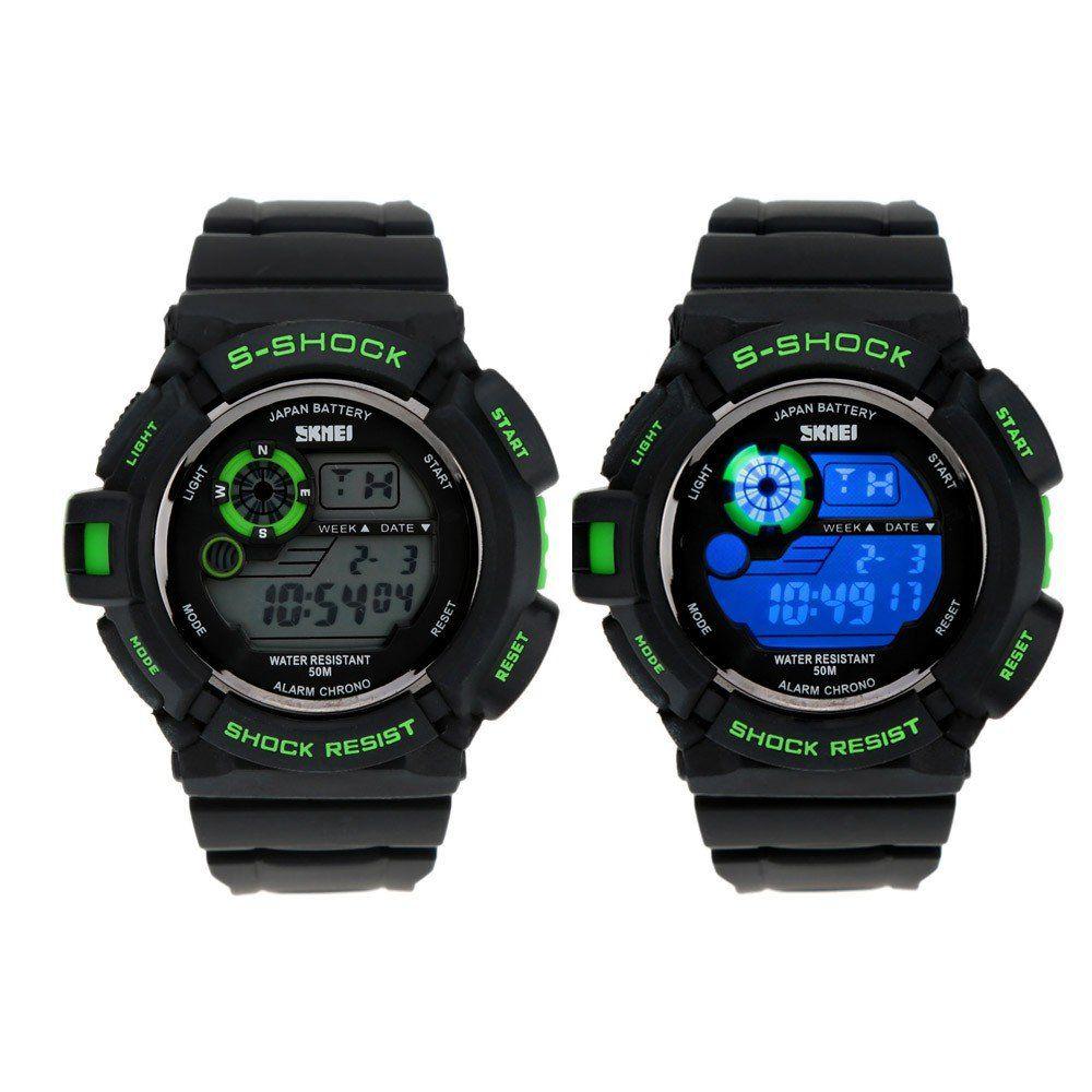 SKMEI S SHOCK   Wasserdichte LED Uhr mit vielen Funktionen für 7,06€ (statt 17€)