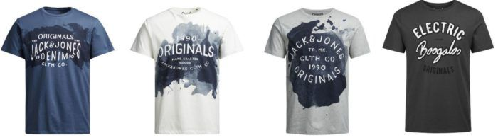 Jack & Jones Herren T Shirts, NY, Raffa, Paintstrok, Splat für je 10,99€