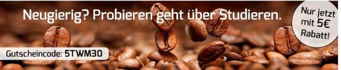 Kaffeevorteil mit 5€ Gutschein auf diverse Kaffee / Kapsel Probierpakete