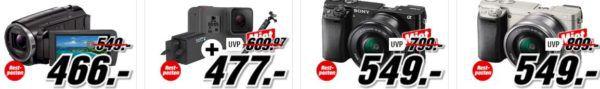 Media Markt Restposten Aktion   günstige Kamers, Objective, Action Cams   z.B. Rollei Actioncam 415 für 57€