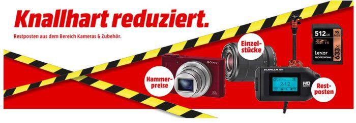 Media Markt Knallhart reduziert: günstige Video  Kameras & Zubehör   z.B. LEXAR Micro SDHC 64 GB für 17€