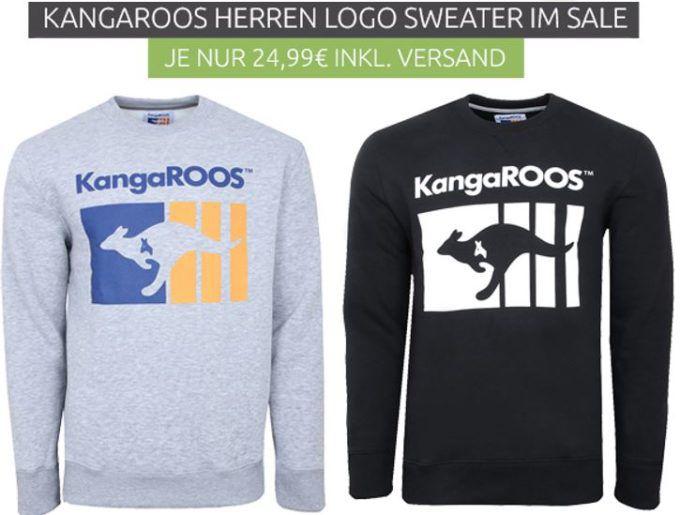 KangaROOS Herren Logo Sweater für je 24,99€