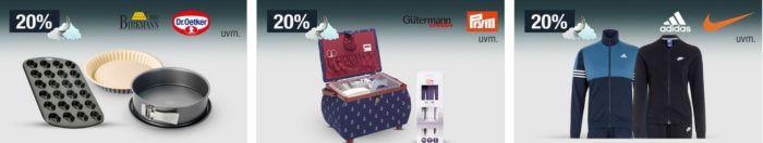 20% auf Damentaschen, Kindermoden, Marken Trainingsanzüge uvm.   Galeria Kaufhof Mondschein Angebote