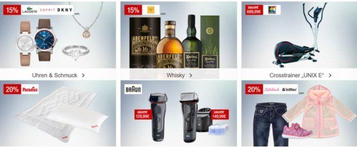 Galeria Kaufhof Sonntagsangebote   z.B. 20% auf Dartsport, Villeroy & Boch Bestecke und Gläser   15% Rabatt auf Whisky und mehr..