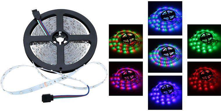 5m LED Streifen mit 60 LEDs (SMD3528) & 9 verschiedene Modi inkl. Timer für 2,90€
