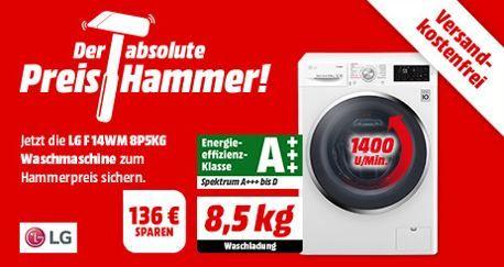 LG F 14WM 8P5KG   Waschmaschine mit A+++ und 8,5kg für 399€