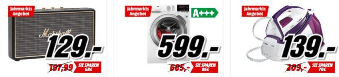 Media Markt Preise im freien Fall   günstiges quer Beet   Speicher, Waschmaschinen, Lautsprecher, Action Cams.....
