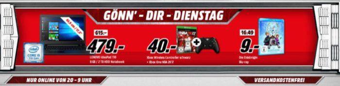 XBox one S 1TB + Wireless Controller SE Winter Forces + FIFA 18 für 275€ uam. im Media Markt Dienstag Sale