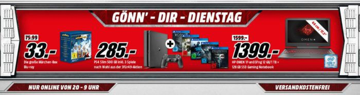 Xbox One S 1TB Konsole + Wireless Controller SE Winter Forces + The Elder Scrolls: Morrowind für 249€ uam. im Media Markt Dienstag Sale