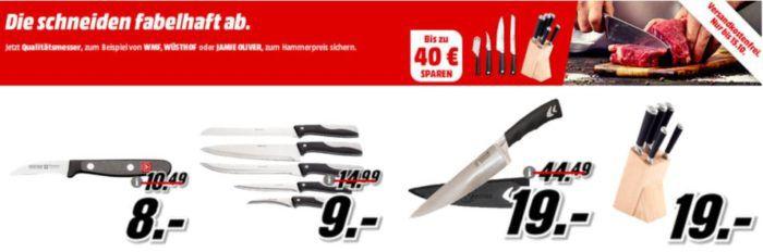 Media Markt Messer Aktion: günstige Messer und Messerblöcke von Jamie Oliver, Wüsthof, Kuhn Rikon und anderen