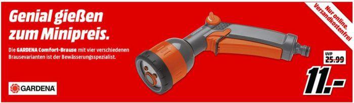 Gardena 8106 20 Comfort Multifunktions Brause für 11€ (statt 17€)