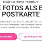 Selbstgestaltete Postkarten im Wert von 3€ kostenlos verschicken (für Android, iOS, PC, nur Neukunden)