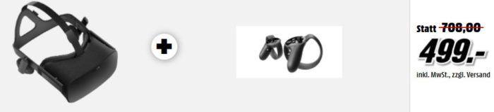 OCULUS Rift VR Brille + Touch Controller statt 570€ für 499€ uam. im Media Markt Dienstag Sale