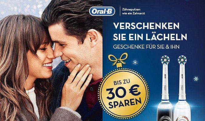 Bis zu 30€ Cashback auf verschiedene Oral B Zahnbürsten bis 31.01.2018