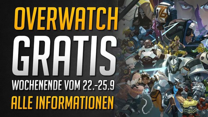 Overwatch (PC, PS4, Xbox One) gratis spielbar vom 22. bis 25. September