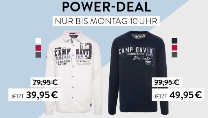 Camp David & Soccx Powerdeal   Pullover für 49,95€ oder Hemd mit Artwork für 39,95€