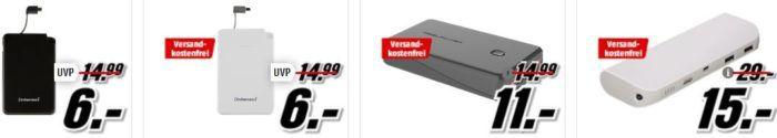 Media Markt Power unterwegs Aktion   günstige Powerbanks und Batterien   z.B. INTENSO S5000 Powerbank 5000 mAh statt 15€ für 6€