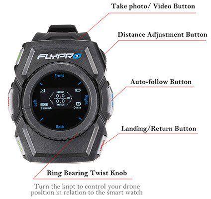 FLYPRO XEagle   RTF Drohne mit Smartwatch, Follow Me, 360°, 12MP & Zubehörpaket für ~236€ (statt ca. 479€)