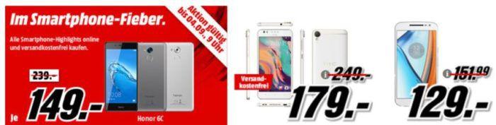 Media Markt Smartphone Fieber: z.B HTC Desire 10 Lifestyle statt 218€ für 179€