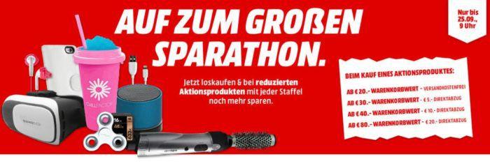 Media Markt Sparathon: Kleinkram Sale mit Staffel Rabatt