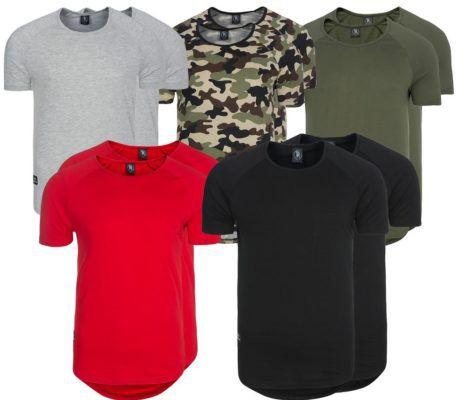 Spartans History Basic Oval   Doppelpack Herren Shirts neue Modelle statt 30€ für 14,99€