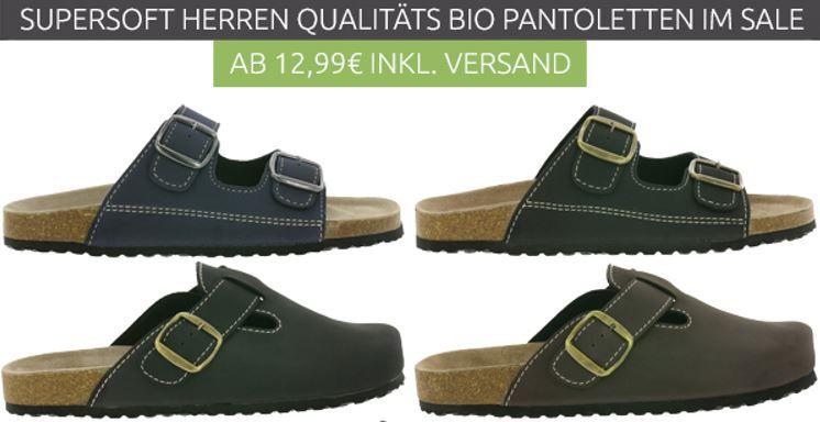Supersoft Bio Pantoletten für Herren ab je 12,99€