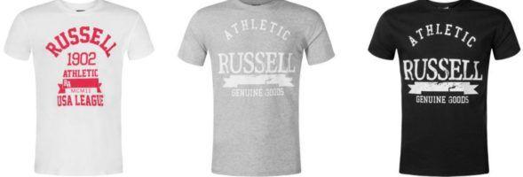 RUSSELL ATHLETIC Herren Logo T Shirts für je 12,99€