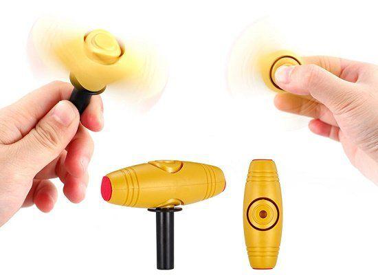 2 in 1 Fidget Toy   Kombination aus Spinner und Rolling Stick für ~2,57€