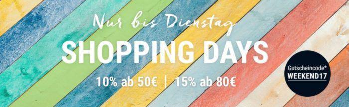 Tchibo Shopping Days mit bis zu 15%  auf alles bis Mitternacht!