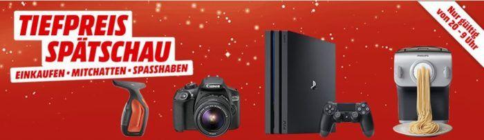 Media Markt Tiefpreisspätschau: u.a. PS 4 Pro 1TB für 299€   Philips Avance Collection HR2358/12 Nudelmaschine für 169€
