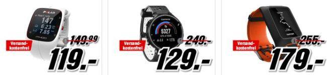 Media Markt: Smartracker und Sportuhren Aktion   z.B. GARMIN FR70 HR Fitnessuhr für 59€