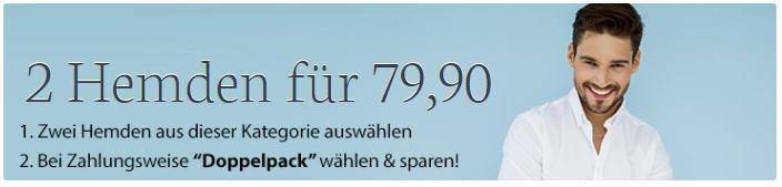 Hemden im Doppelpack   2 Hemden für 79,90€ bei Hemden.de