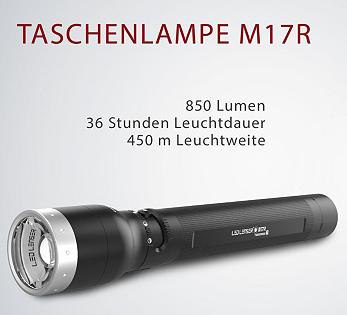 LED LENSER M17R Taschenlampe mit 5 Jahren Garantie für 154,50€ (statt 201€)