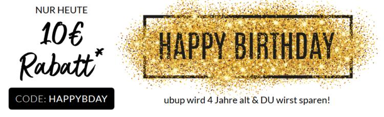 10€ Ubup Gutschein (75€ MBW)