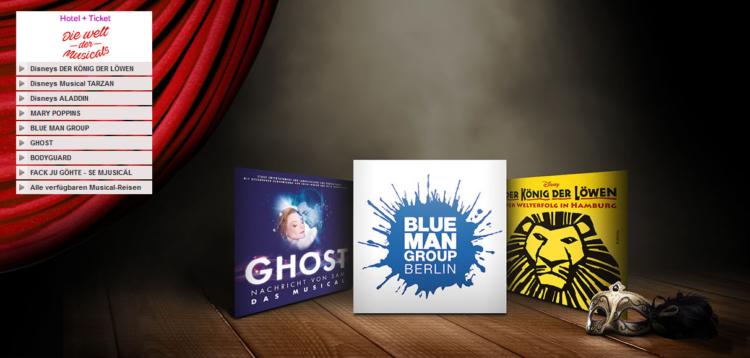 Stage Musical Tickets + 1 ÜN in 4* Hotel ab 89€   Der König der Löwen, Ghost, Tarzan uw.
