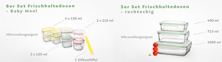 Glasslock Sale bei Vente Privee   z.B. 3er Set Frischhaltedosen aus Glas 11,90€ (statt 31€)