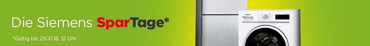 Siemens Spartage bei AO.de + keine VSK   z.B. Siemens iQ300 WT45H200 für 414€ (statt 489€)