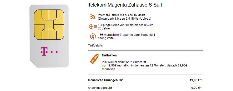 Telekom Magenta Zuhause S, M o. L für junge Leute ab 24,95€ inkl. Router   MagentaEins Young Vorteil möglich