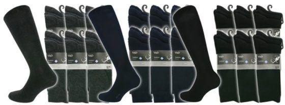 V&D Herren Socken im 18er Pack für 14,99€