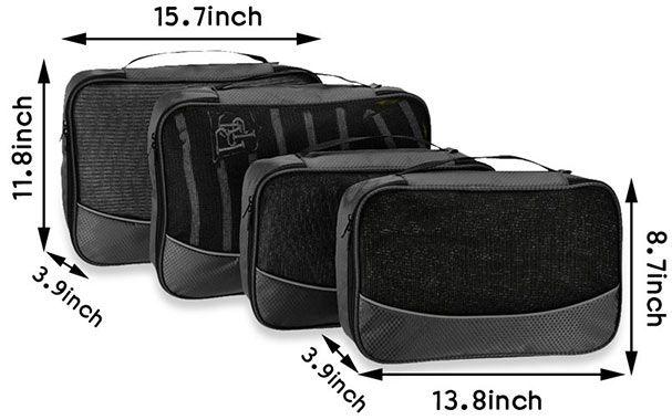 4 tlg. Reisetaschenset in 3 verschiedenen Farben für je 8,68€