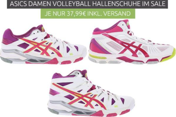 asics Gel Sensei 5 MT Damen Volleyball Schuhe statt 70€ für 37,99€