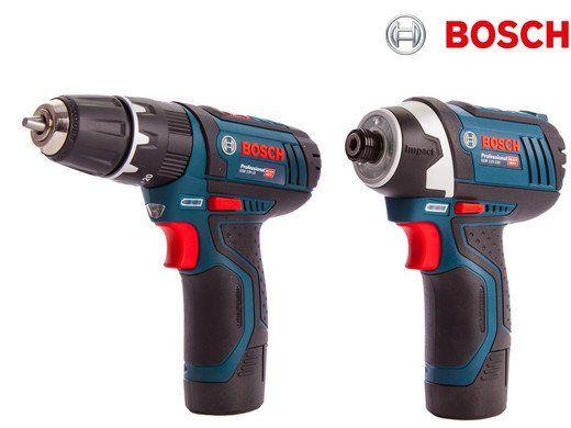 Bosch Blue Set   Schlagbohrschrauber GSB 12V 15 & Drehschlagschrauber GDR 12V 105 für 178,90€ (statt 215€)