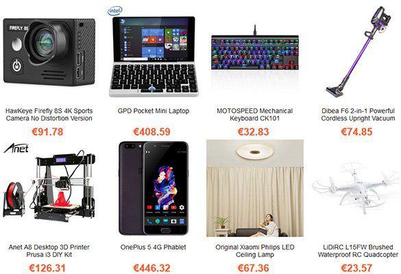 Gearbest Herbst Sale mit vielen verschiedenen Produkten