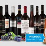 Vorteilspaket: Die Welt des Rotweins – 9 Flaschen inkl. 1 Flasche Cognac für 74,85€