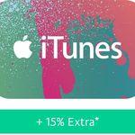 15% Guthaben geschenkt beim Kauf von iTunes-Gutscheinen