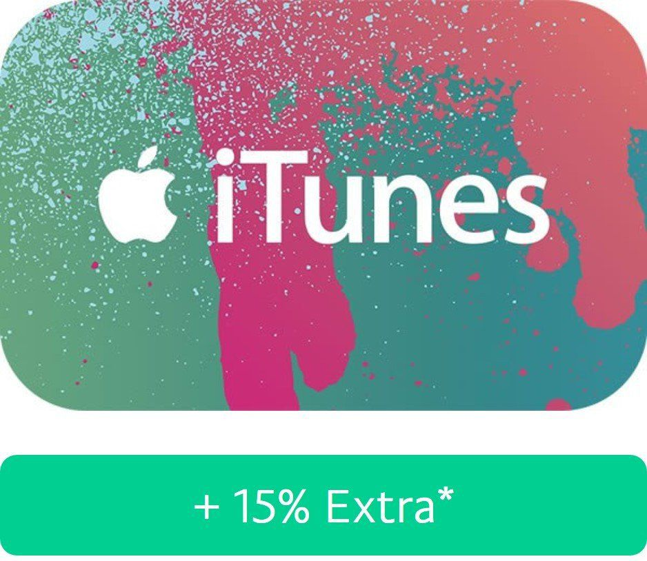 15% Guthaben geschenkt beim Kauf von iTunes Gutscheinen